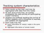 tracking system characteristics2