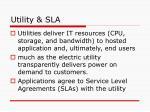 utility sla