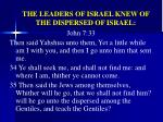 the leaders of israel knew of the dispersed of israel