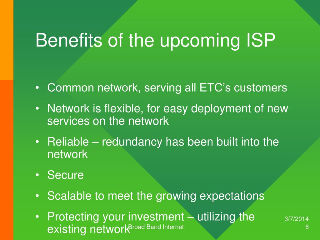 Benefits of the upcoming ISP