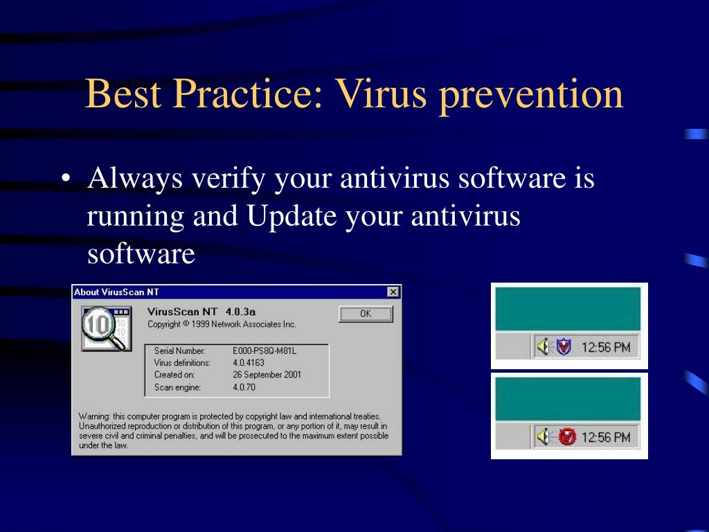 Best Practice: Virus prevention