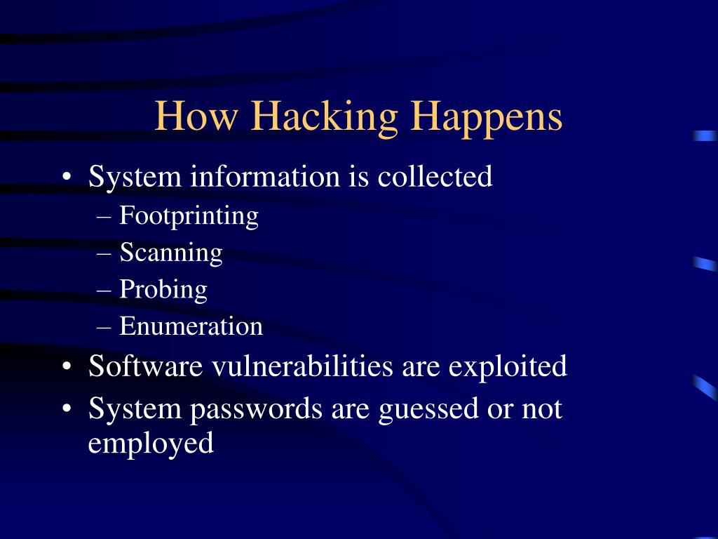 How Hacking Happens