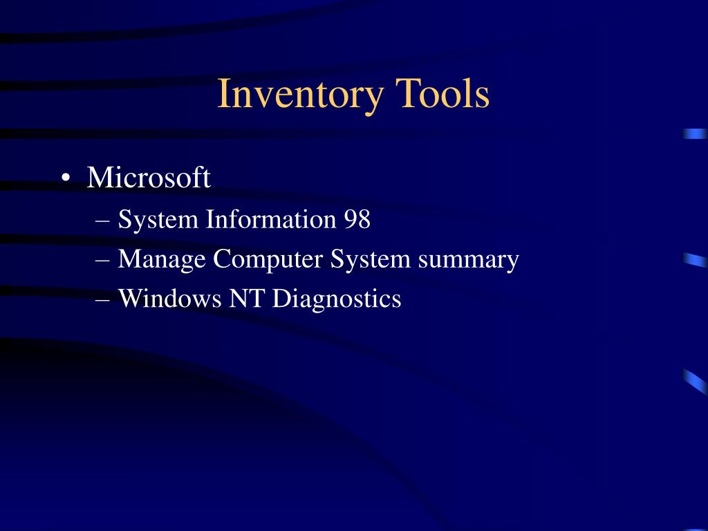 Inventory Tools