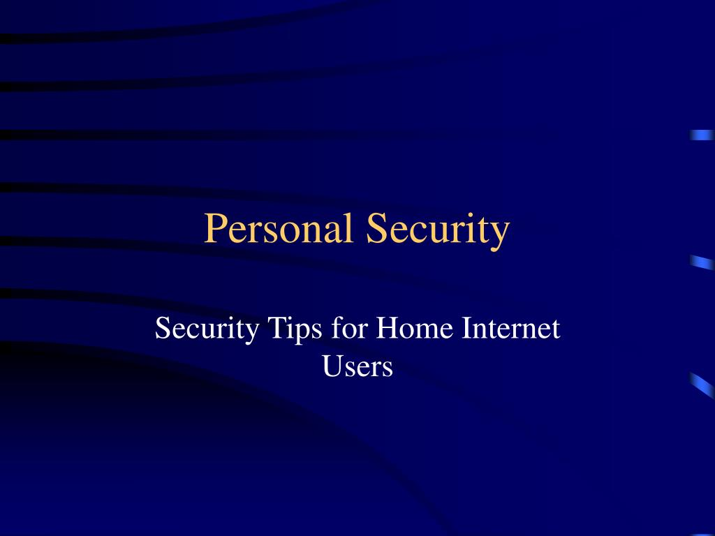 personal security l.