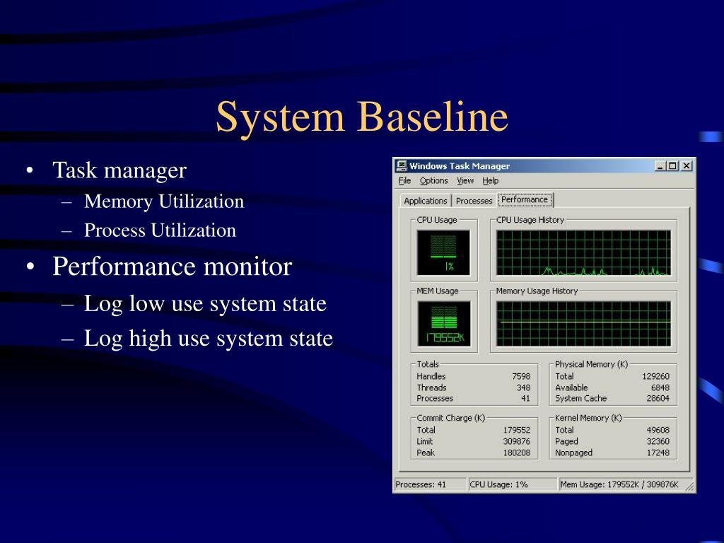 System Baseline