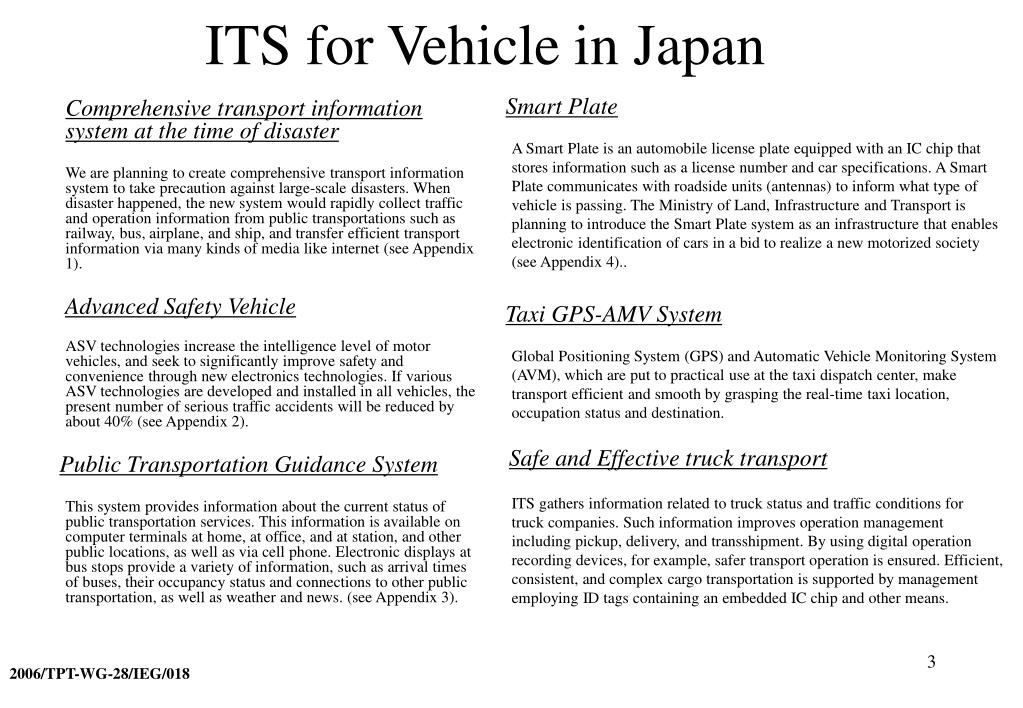 ITS for Vehicle in Japan