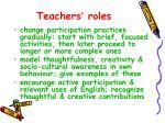 teachers roles
