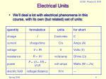 electrical units