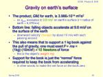 gravity on earth s surface