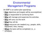 environmental management programs