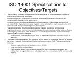 iso 14001 specifications for objectives targets