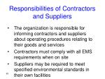 responsibilities of contractors and suppliers