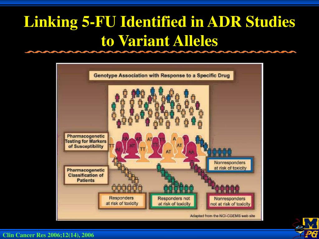 Linking 5-FU Identified in ADR Studies to Variant Alleles