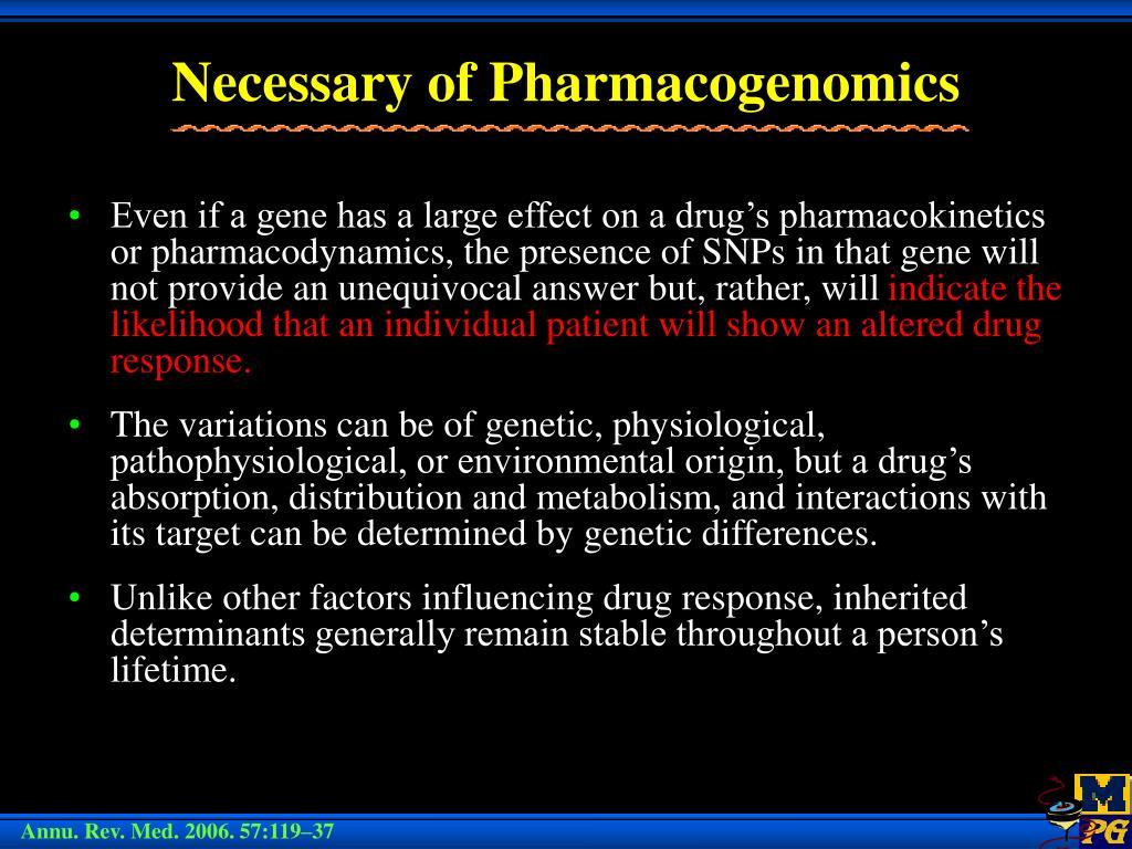 Necessary of Pharmacogenomics