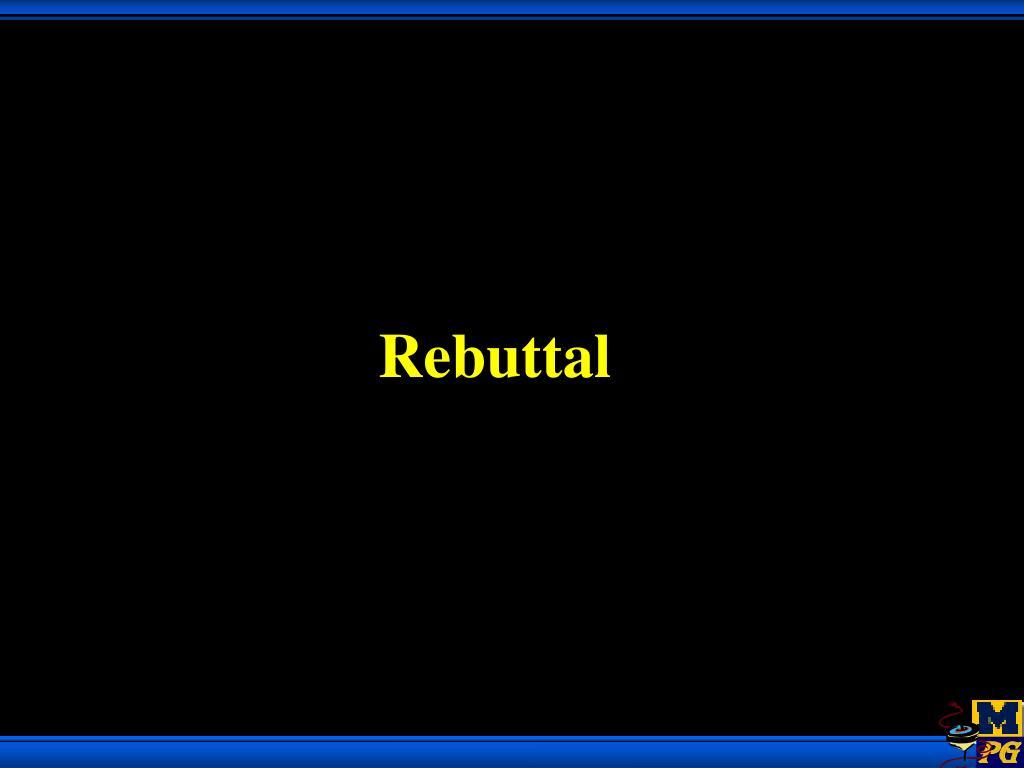 Rebuttal