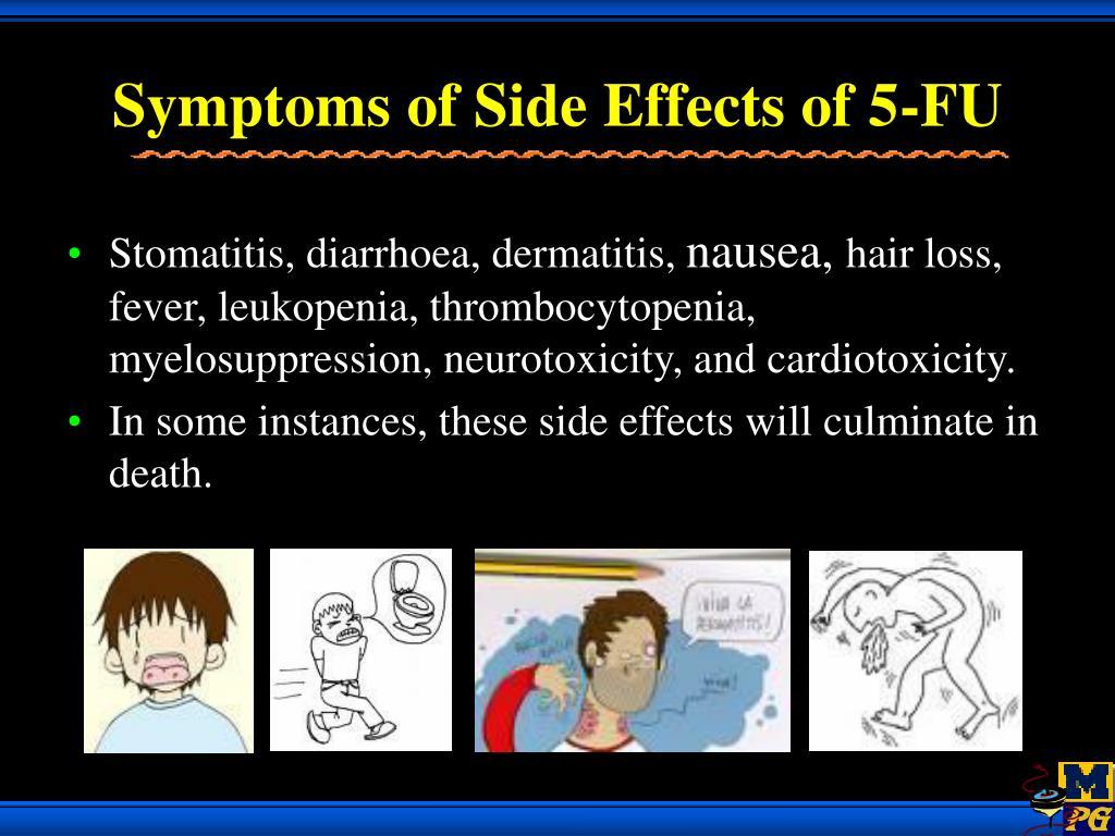 Symptoms of Side Effects of 5-FU