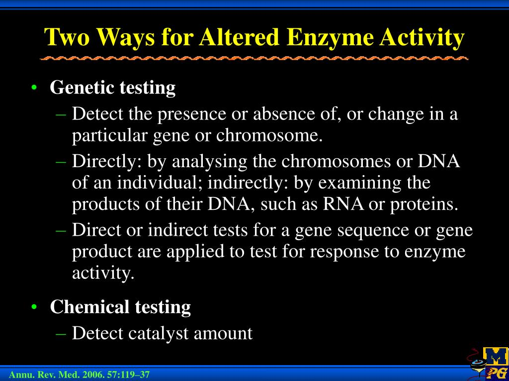 Two Ways for Altered Enzyme Activity