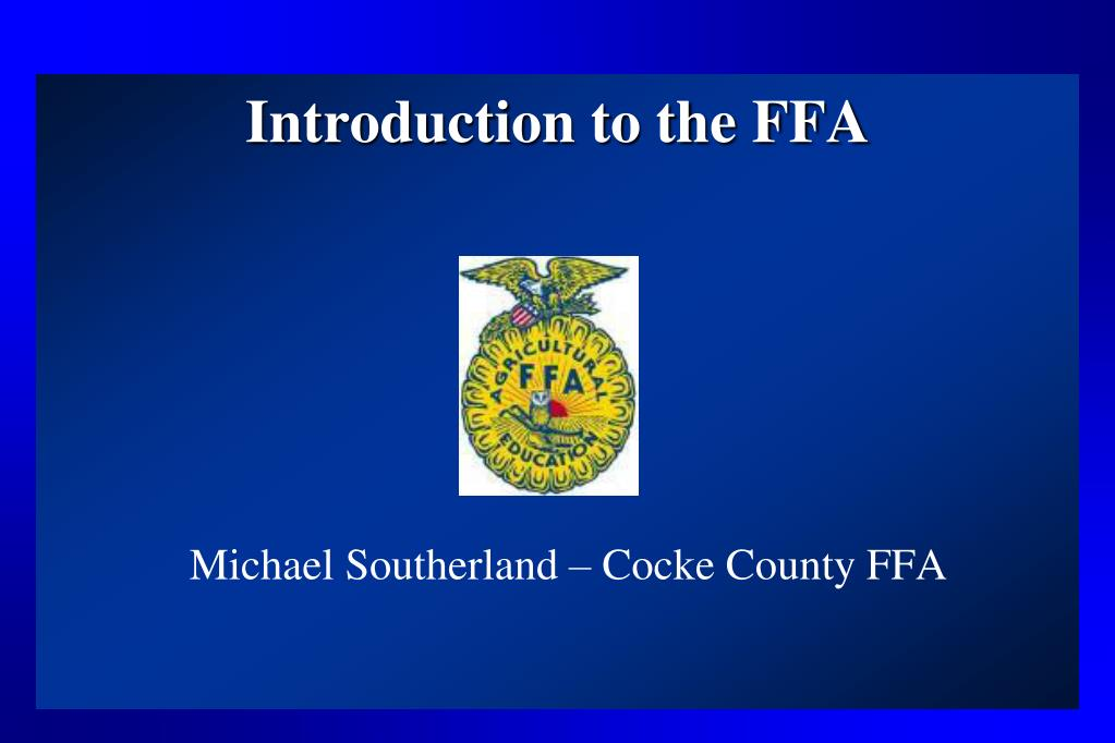 introduction to the ffa l.