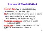 overview of wavelet method