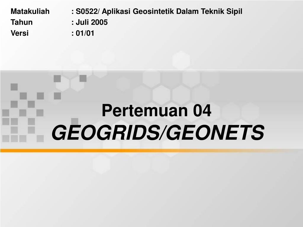 pertemuan 04 geogrids geonets l.