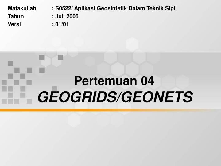 pertemuan 04 geogrids geonets n.