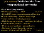 101 protein1 public health from computational proteomics