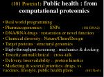 101 protein1 public health from computational proteomics43