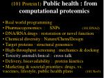 101 protein1 public health from computational proteomics48