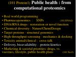 101 protein1 public health from computational proteomics53