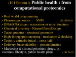 101 protein1 public health from computational proteomics55