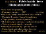 101 protein1 public health from computational proteomics57