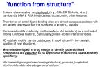 function from structure