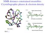 nmr distance constrained ensembles crystallographic phases electron density