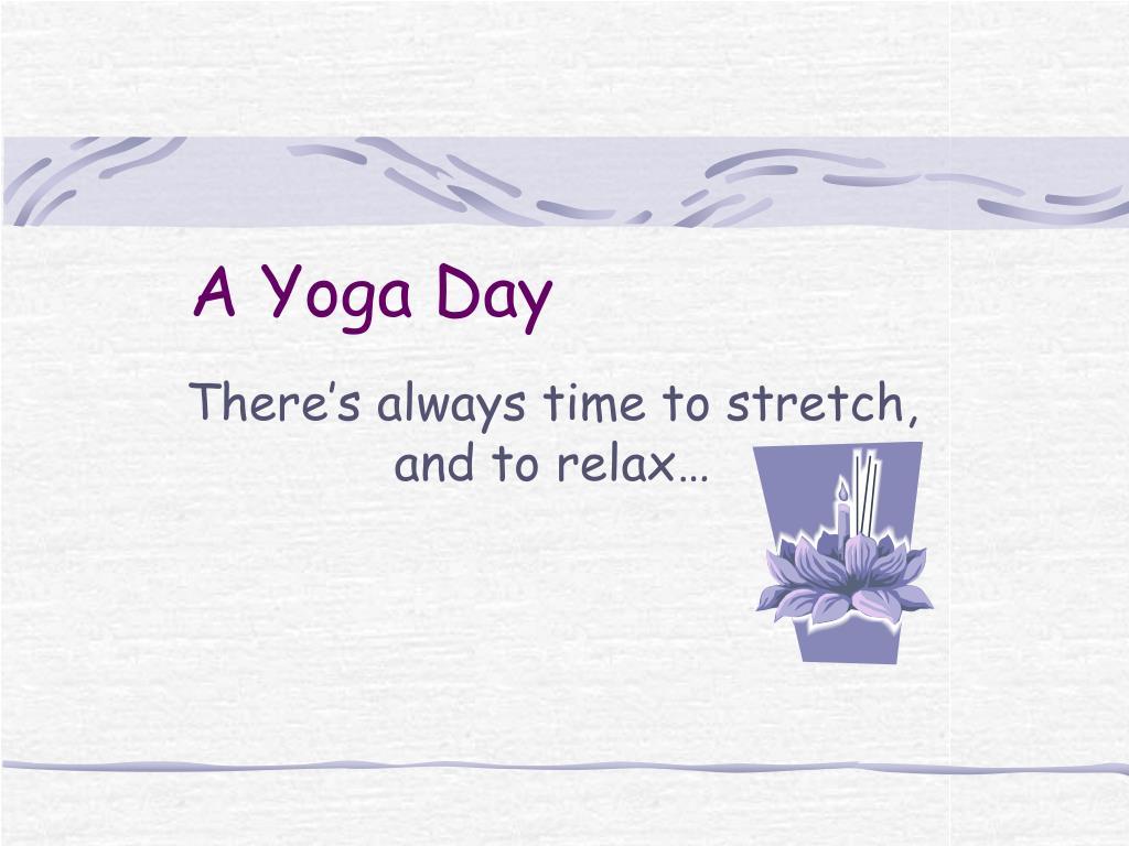 a yoga day l.