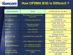 how ofdma b3g is different