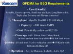 ofdma for b3g requirements