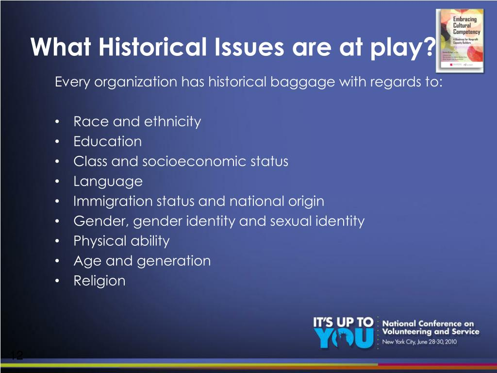 What Historical Issues are at play?
