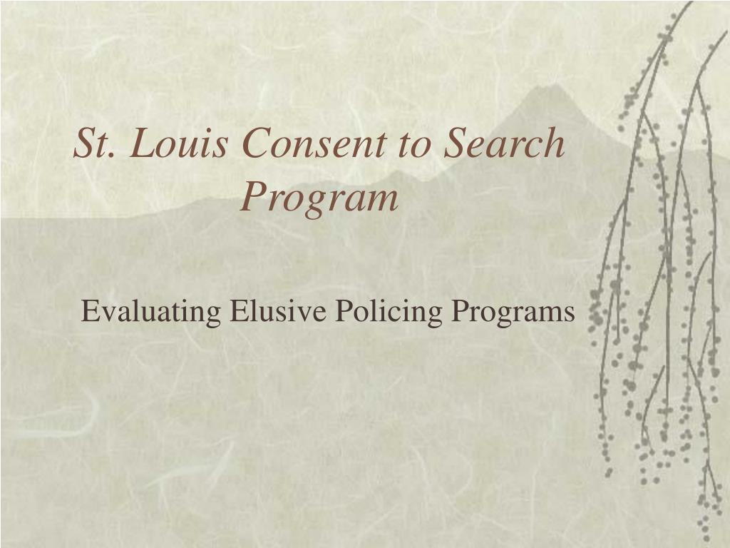 st louis consent to search program l.