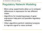 regulatory network modeling