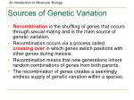 sources of genetic variation85