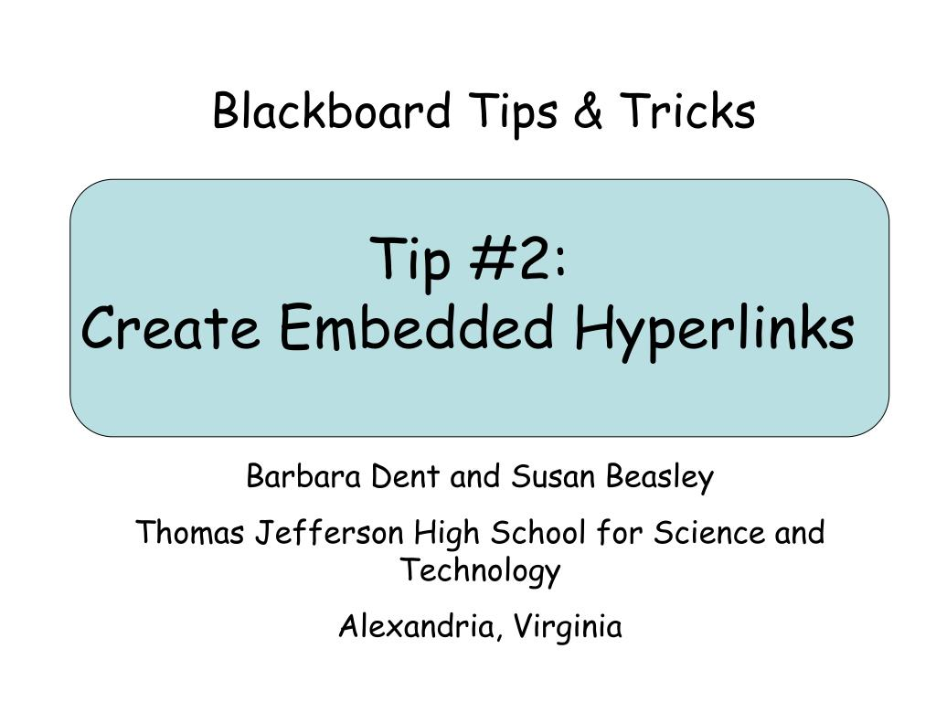 tip 2 create embedded hyperlinks l.