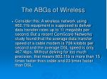 the abgs of wireless28