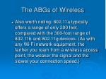 the abgs of wireless31
