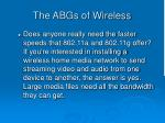 the abgs of wireless32