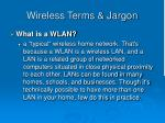 wireless terms jargon