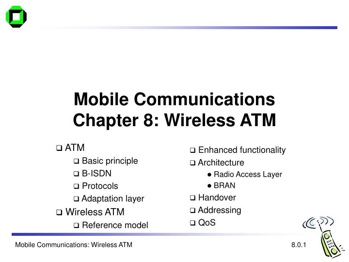 mobile communications chapter 8 wireless atm n.