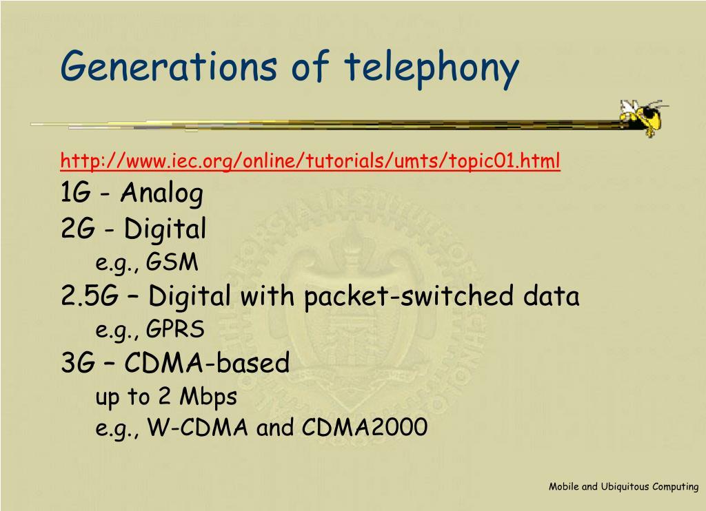 Generations of telephony