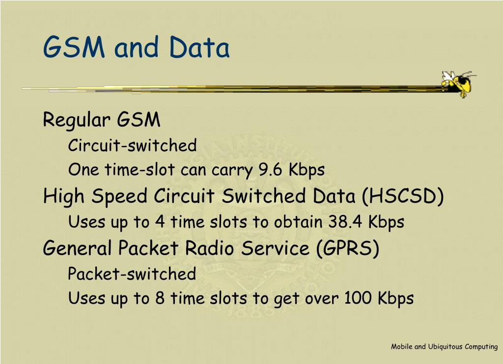 GSM and Data