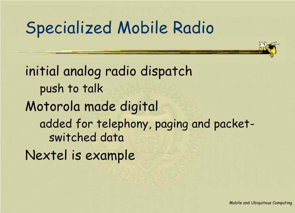 Specialized Mobile Radio