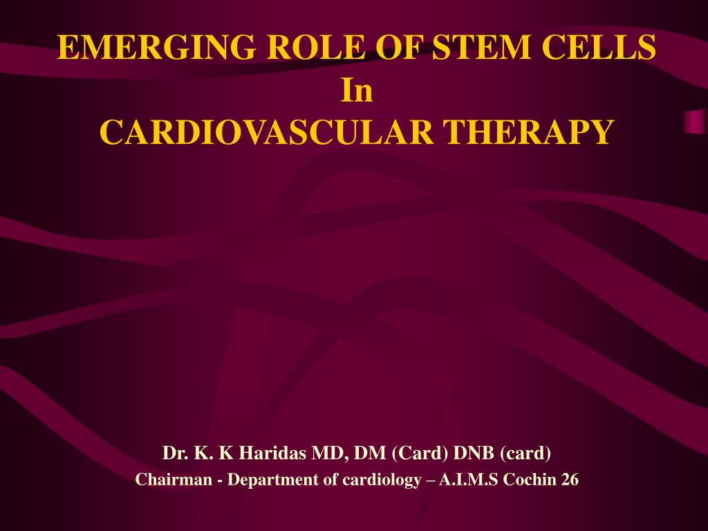 EMERGING ROLE OF STEM CELLS